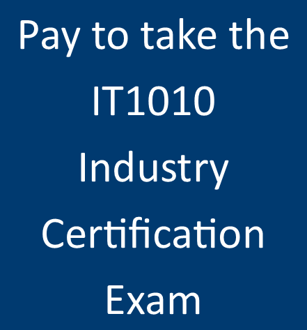 IT 1010 Industry Certification Exam (IC3)