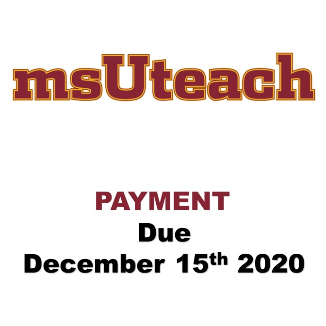 msUteach Certification - $970 5th payment