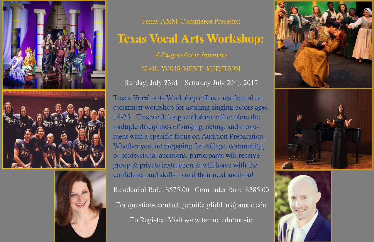 2017 Texas Vocal Arts Workshop: Residential and Commuter
