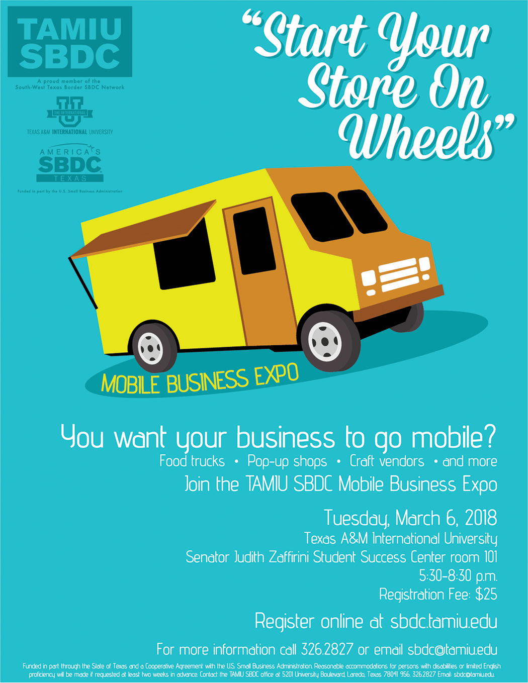Start Your Store On Wheels: Mobile Business Expo (March 6, 2018)