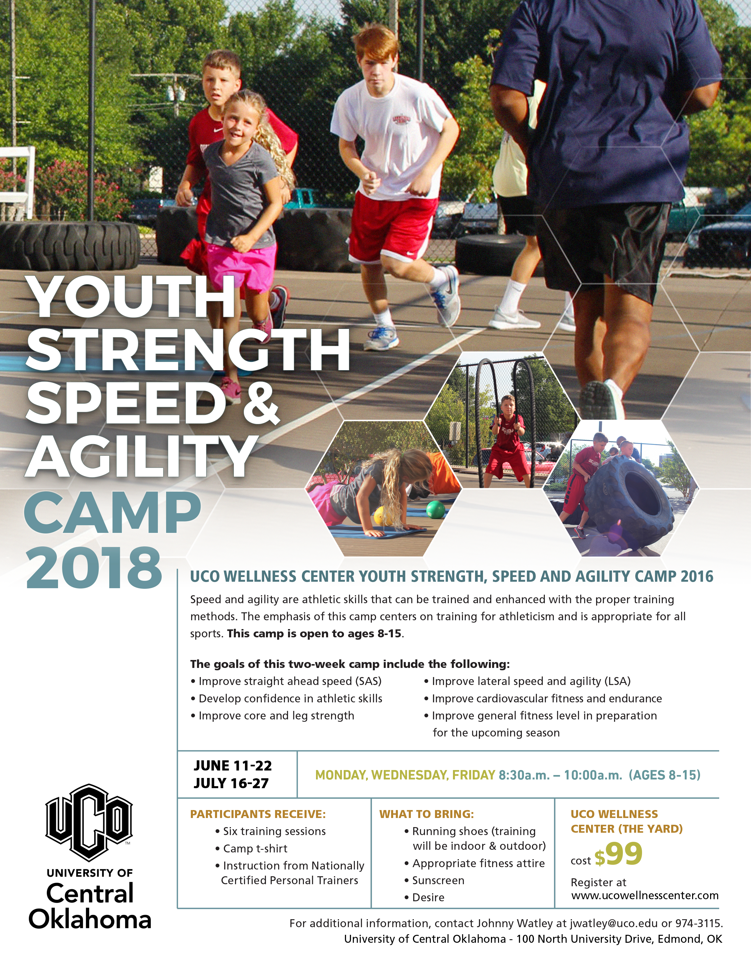 Youth Strength, Speed & Agility Camp June 11-22, 2018
