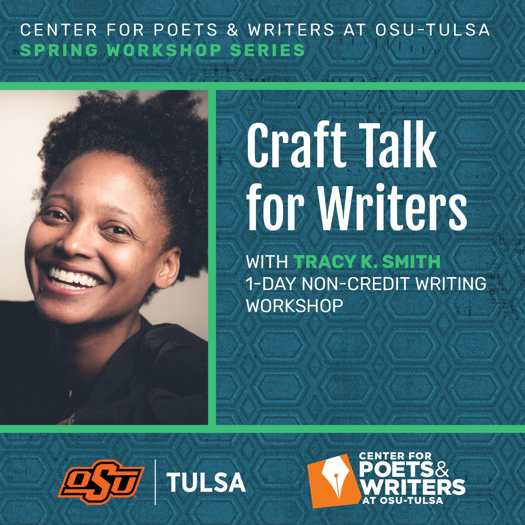 Craft Talk for Writers with Tracy K. Smith