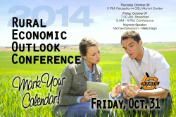 Rural Economic Outlook Conference 2014