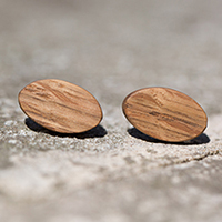 Cistern Oak Stud Earrings