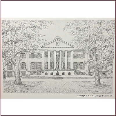 Randolph Hall Note Cards by Jane Jackson