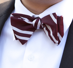 Regimental Stripe Bowtie by Ben Silver