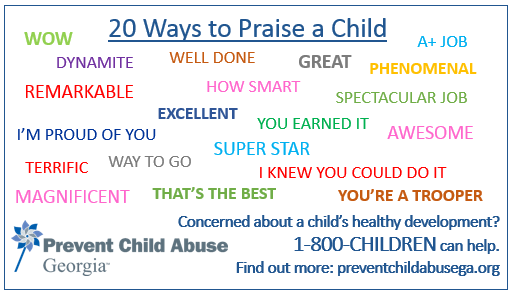 20 Ways to Praise a Child Magnet