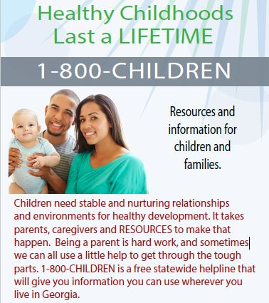 1-800-CHILDREN Rack Cards