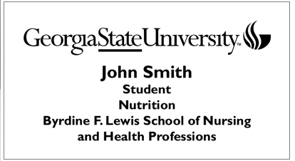 Nutrition Student Name Badges