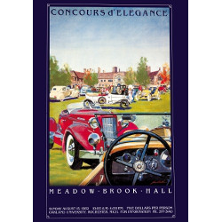 Signed MBH Concours Vintage Poster 1982