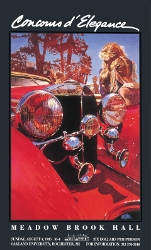 Signed MBH Concours Vintage Poster 1985