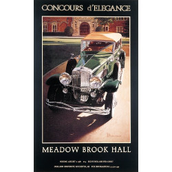 Signed MBH Concours Vintage Poster 1987