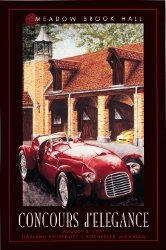 Signed MBH Concours Vintage Poster 1997