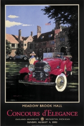 Signed MBH Concours Vintage Poster 2002