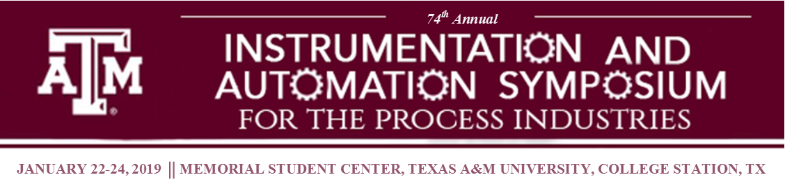 74th Annual Instrumentation and Automation Symposium: January 22-24, 2019