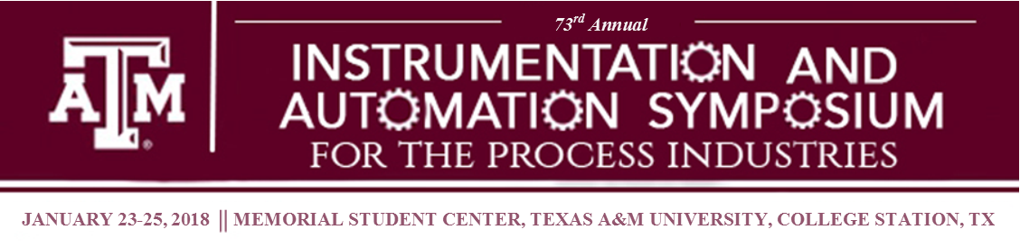 73rd Instrumentation and Automation Symposium: January 23-25, 2018