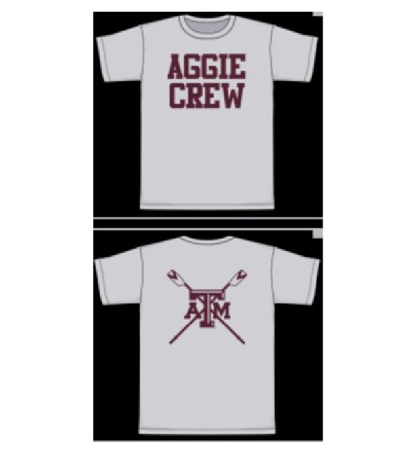 Aggie Crew: Practice Day Shirts (Team Members)