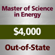Master of Science in Energy: $4,000 Program Deposit (Out-of-State)