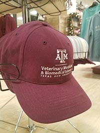 CVM All Cotton Cap - Maroon w/White Thread