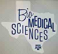 BioMedical Sciences Decal - Texas Shape