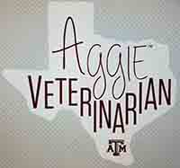 Decal - Texas Shape Aggie Veterinarian