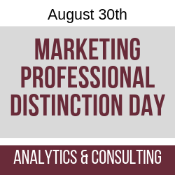 August 2019 Marketing Professional Distinction Day - Analytics & Consulting
