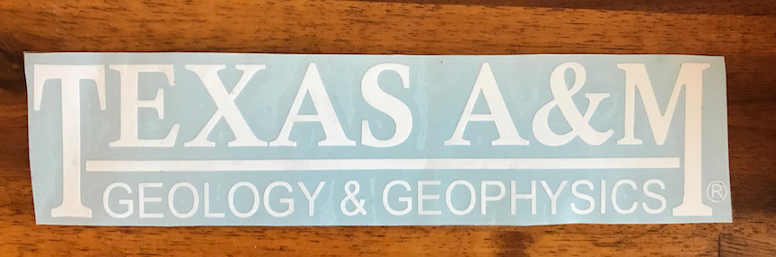 Geology & Geophysics Decal