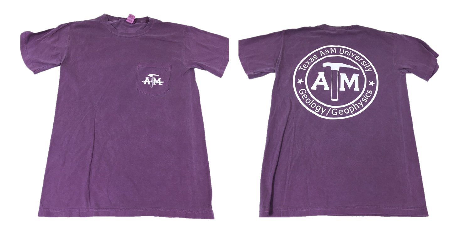 Purple Member T-Shirt with Front Pocket