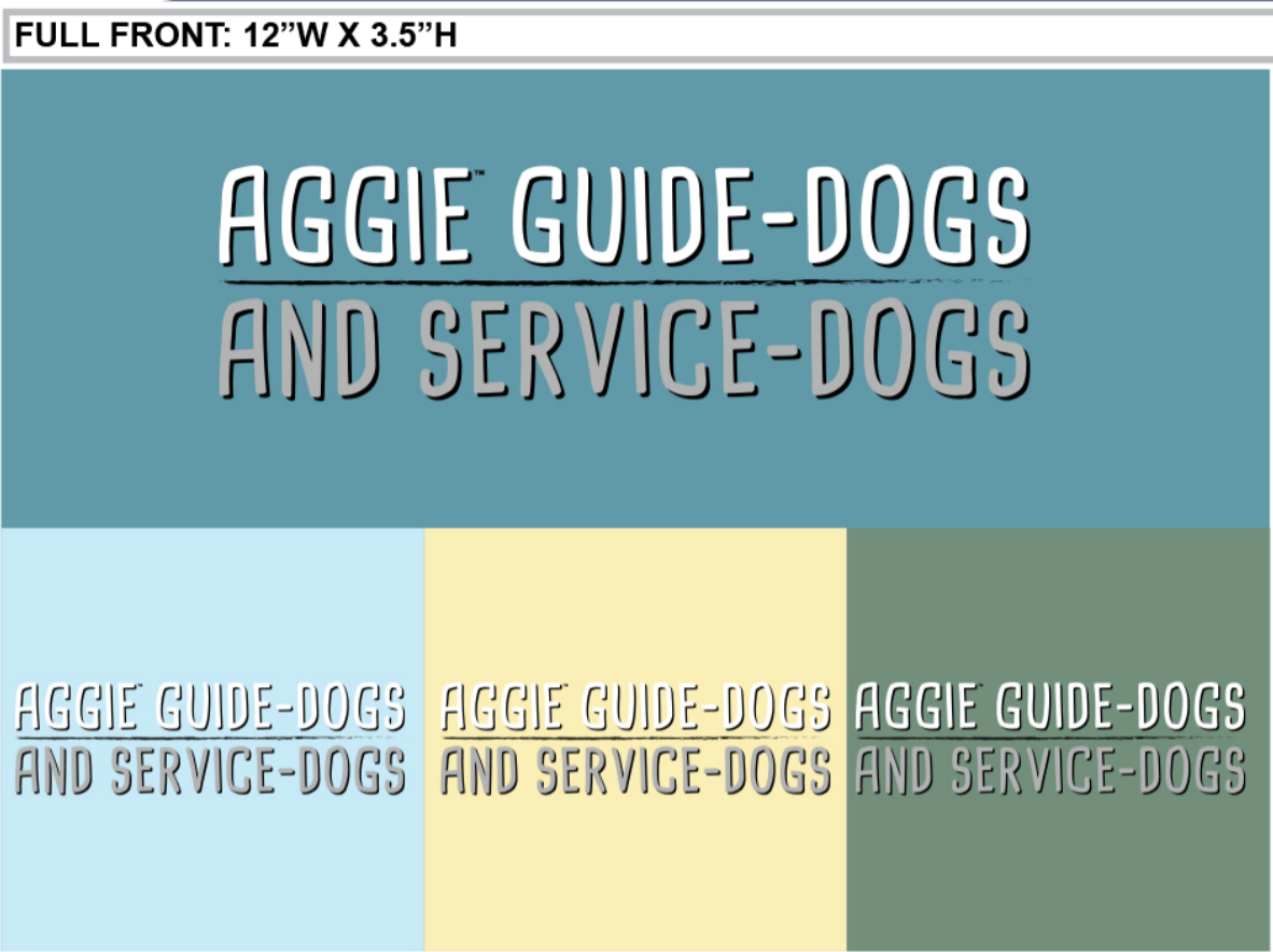 Aggie guide dogs.