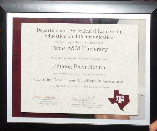 Agriculture eLearning Certificate Program
