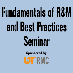 Fundamentals of R&M and Best Practices (Nov. 2-5, 2020)
