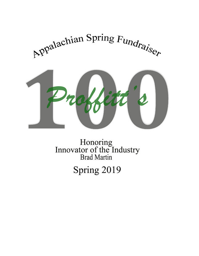Appalachian Spring Fundraiser 2019 Individual ticket