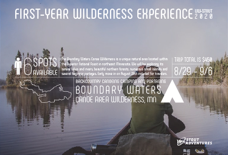 FWE 2020: Canoeing the Boundary Waters Aug 29 - Sep 6