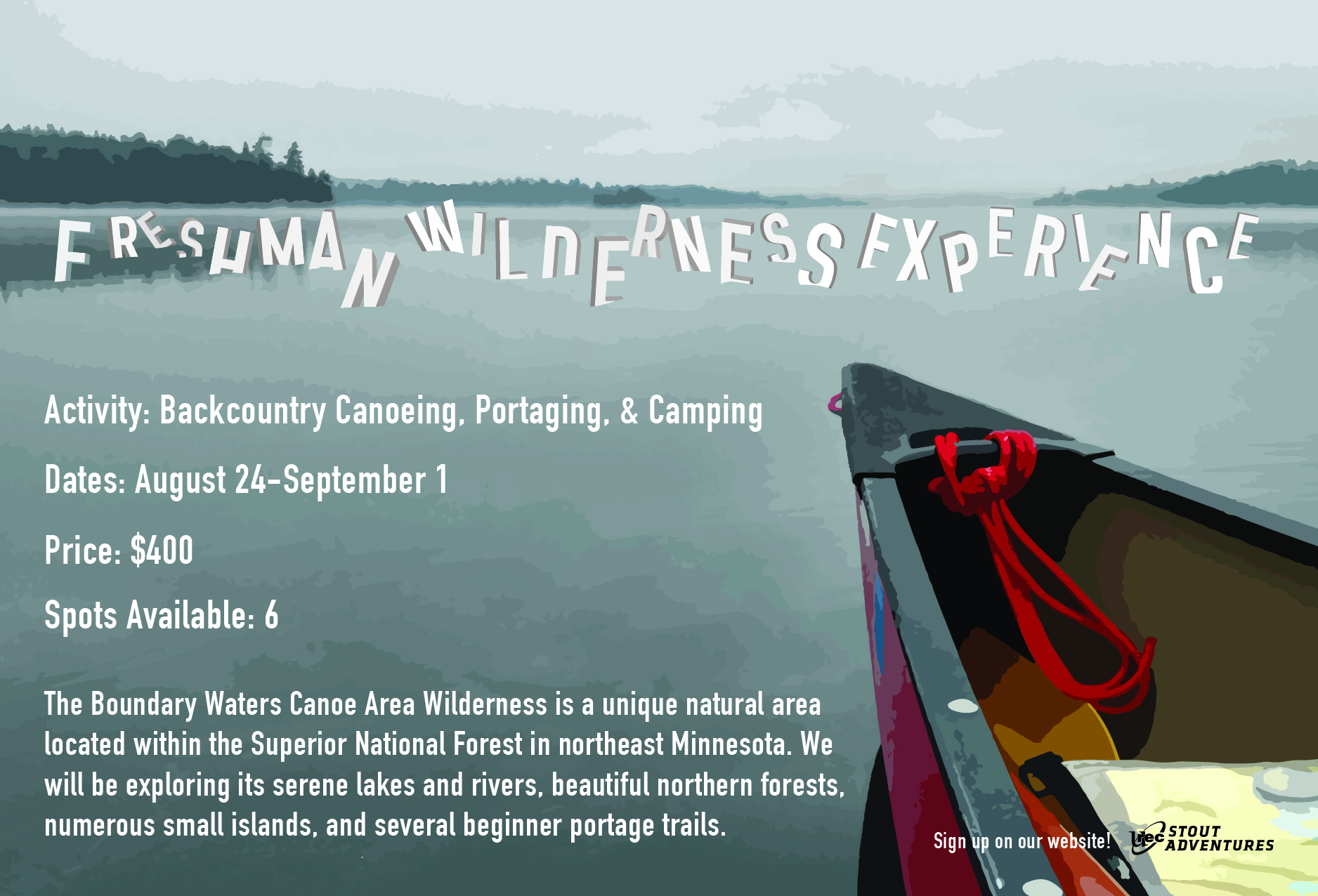 FWE 2019: Canoeing the Boundary Waters Aug 24 - Sep 1