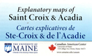 Explanatory maps of Saint Croix & Acadia